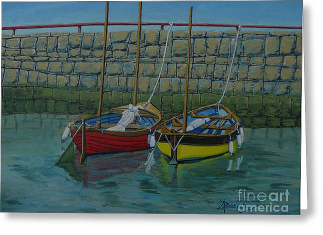 Low Tide Greeting Card by Anthony Dunphy