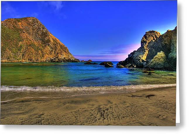 Pfeiffer Beach Greeting Cards - Low Tide At Big Sur Greeting Card by John Absher