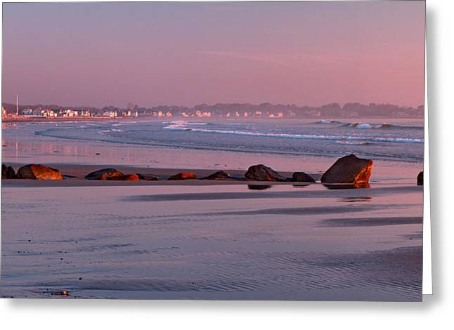 Recently Sold -  - New England Ocean Greeting Cards - Low Tide at Dawn Greeting Card by Shelle Ettelson