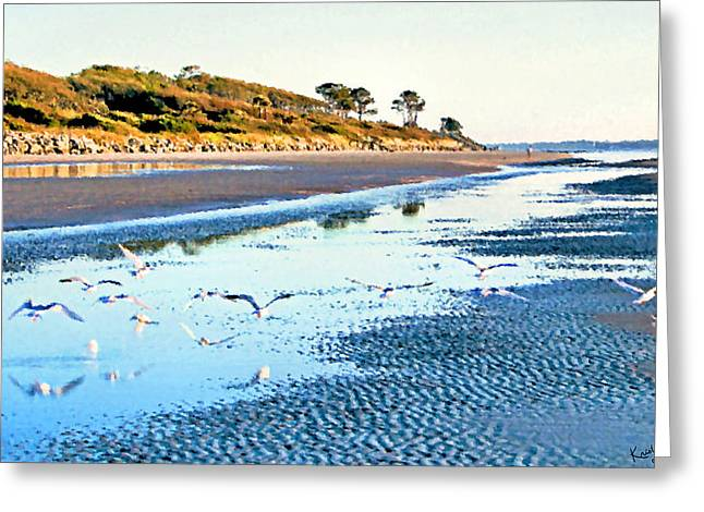 Tern Greeting Cards - Low Tide at Jekyll Island Greeting Card by Kristin Elmquist