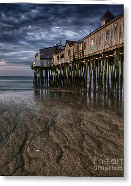 Storm Prints Digital Art Greeting Cards - Low Tide at Old Orchard Beach Greeting Card by Jerry Fornarotto