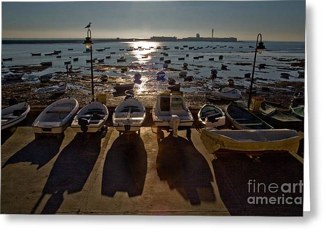Beach Photos Greeting Cards - Low Tide At Playa De La Victoria Beach Greeting Card by Spencer Grant
