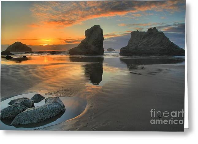 Low Tide Giants Greeting Card by Adam Jewell