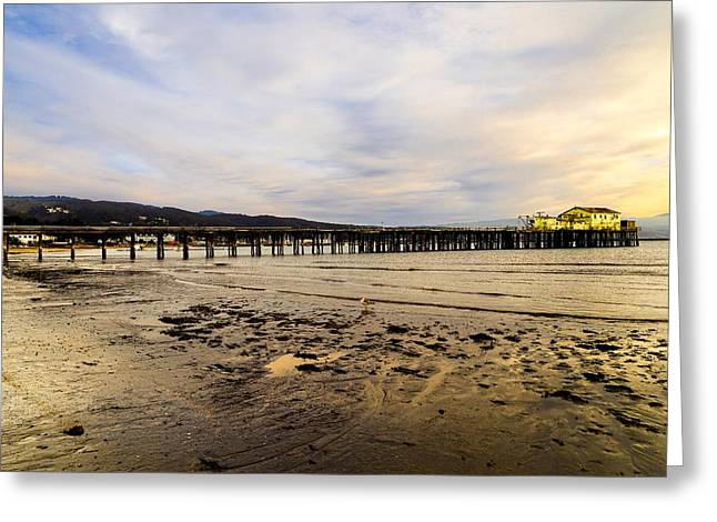 Santa Cruz Pier Greeting Cards - Low Tide Half Moon Bay Greeting Card by Scott Hill