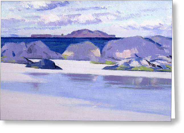 Colorist Greeting Cards - Low Tide  Iona Greeting Card by Francis Campbell Boileau Cadell