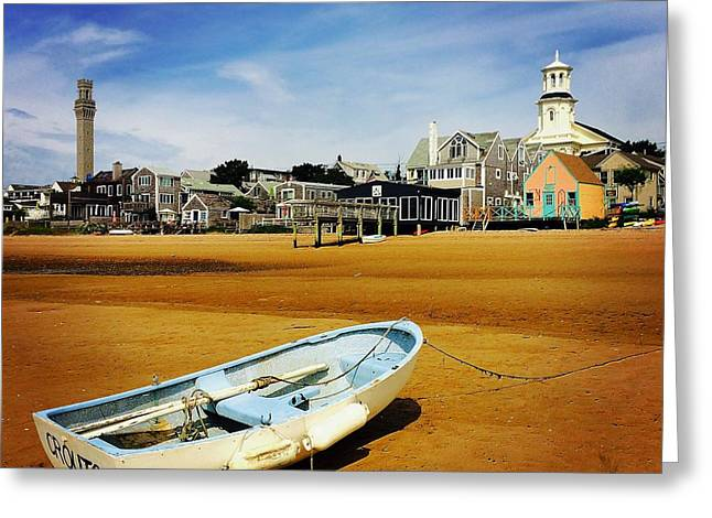 Cape Cod Mass Greeting Cards - Low Tide Greeting Card by Kathleen McGinley