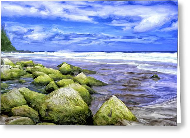Lahaina Greeting Cards - Low Tide on the Na Pali Coast Greeting Card by Dominic Piperata