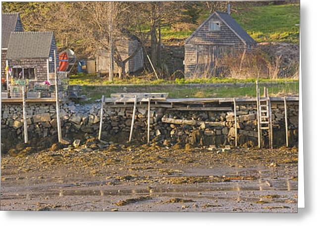 Maine Landscape Greeting Cards - Low Tide Port Clyde Maine Greeting Card by Keith Webber Jr
