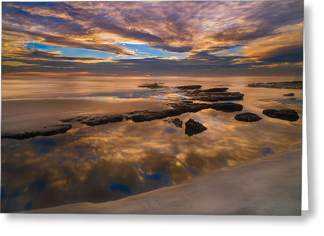 Marshall Greeting Cards - Low Tide Reflections Greeting Card by Larry Marshall
