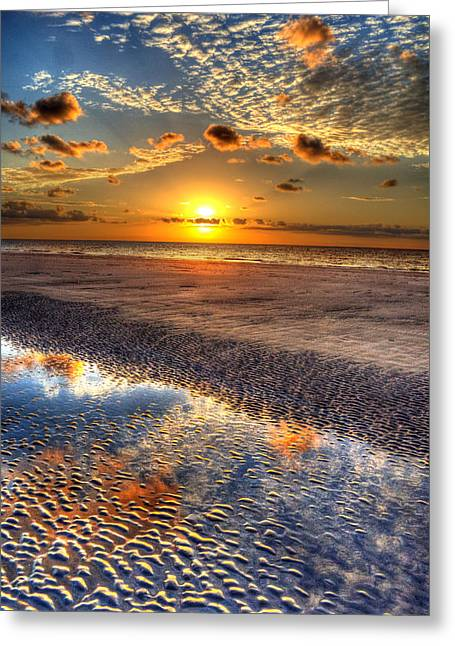 Jekyll Greeting Cards - Low Tide Sunrise on Jekyll Island Greeting Card by Greg and Chrystal Mimbs