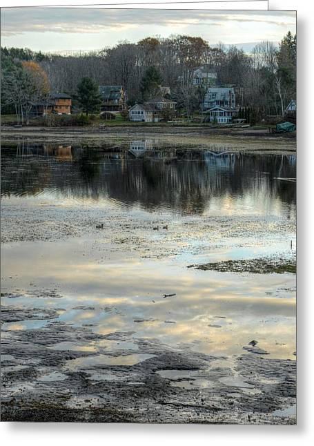 Mud Season Greeting Cards - Low Water at Lake Garfield Greeting Card by Geoffrey Coelho