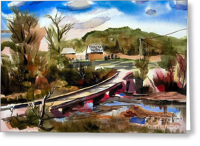 Low Country Watercolor Greeting Cards - Low Water Bridge III Greeting Card by Kip DeVore