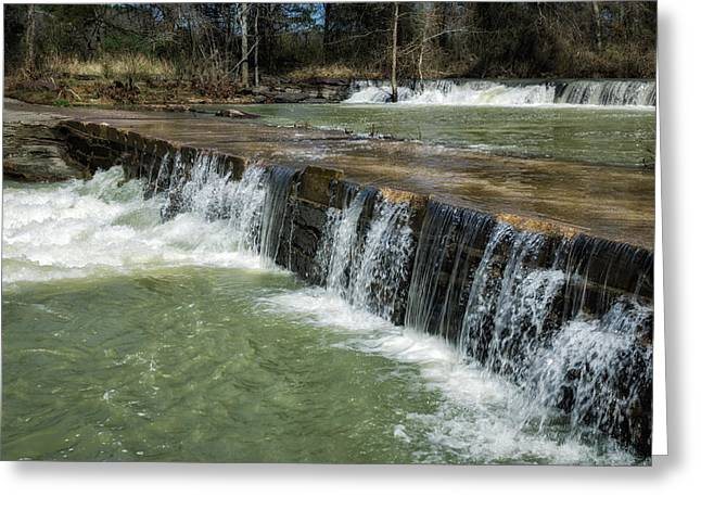 Natural Dam Greeting Cards - Low Water Crossing Greeting Card by James Barber