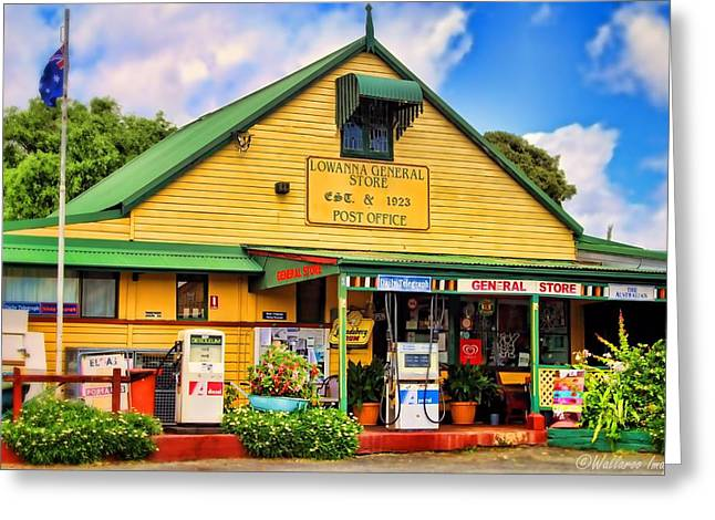 Historic Country Store Digital Art Greeting Cards - Lowanna General Store Greeting Card by Wallaroo Images