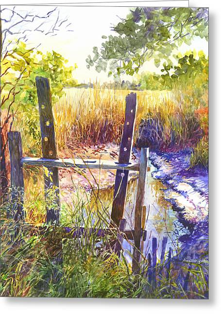 Rice Paddy Greeting Cards - Lowcountry Legacy Greeting Card by Alice Grimsley