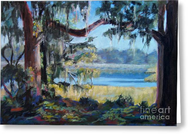 Moss Pastels Greeting Cards - Lowcountry Rice Field Greeting Card by Trish Emery