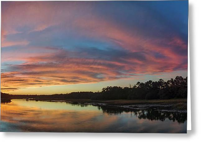 Lowcountry Sunset Charleston SC Greeting Card by Dustin K Ryan