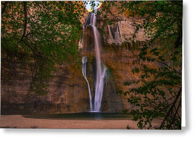 Lower Calf Falls Greeting Card by Michael J Bauer