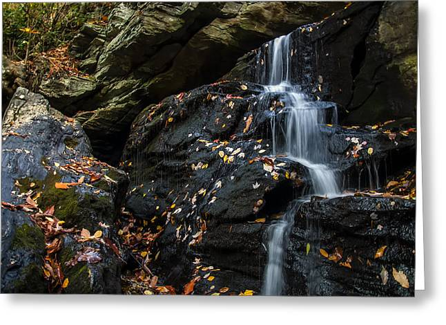Waterfall Image Greeting Cards - Lower Cascade Falls Close Up Greeting Card by Chris Flees