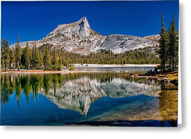 Eastern Sierra Greeting Cards - Lower Cathedral Lake Greeting Card by Cat Connor