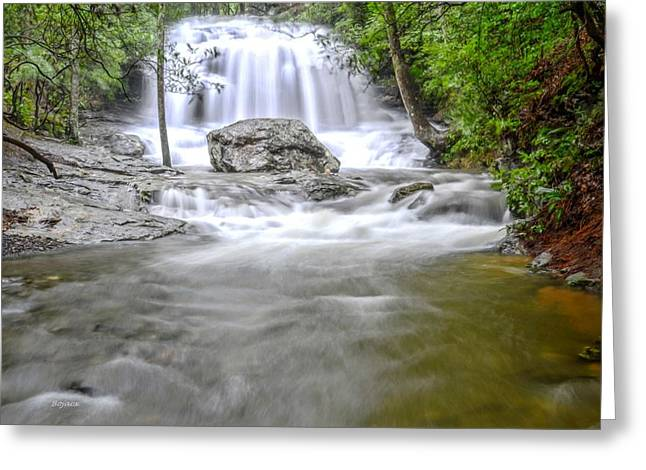 Canoe Waterfall Digital Greeting Cards - Lower Disharoon Falls Greeting Card by Bob Jackson