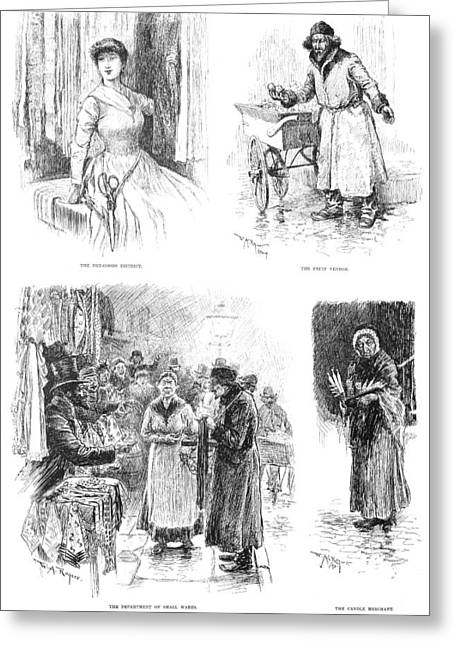 Lower East Side, 1889 Greeting Card by Granger