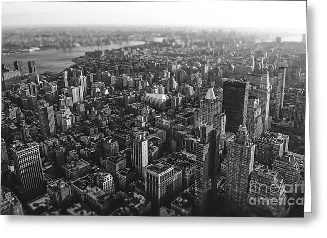 Chelsea Greeting Cards - Miniature New York Greeting Card by Art K