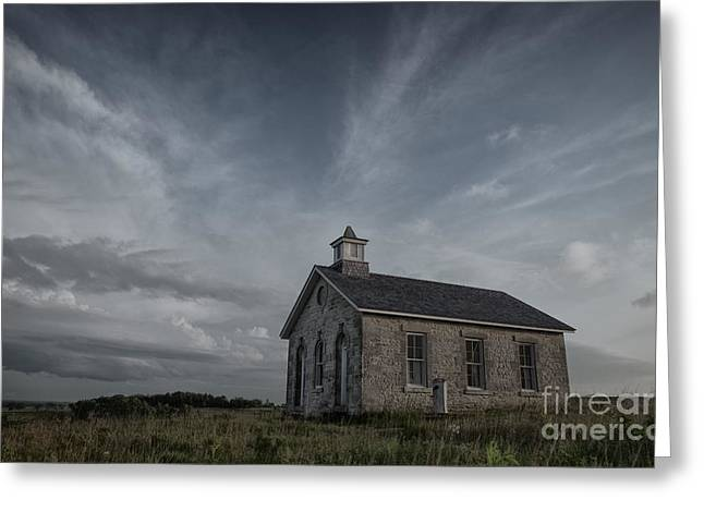 Historical Images Greeting Cards - Lower Fox Creek School  Greeting Card by Keith Kapple