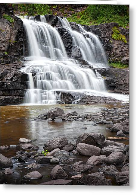 Randy Greeting Cards - Lower Gooseberry Falls Greeting Card by Randall Nyhof