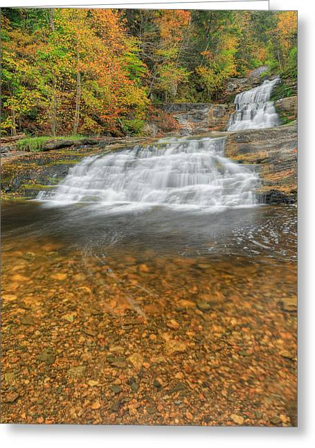 Kent Falls Greeting Cards - Lower Kent Falls Portrait Greeting Card by Bill  Wakeley
