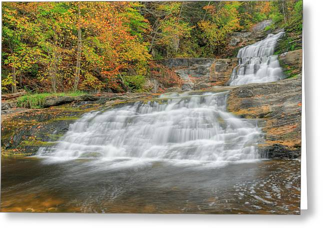 Kent Falls Greeting Cards - Lower Kent Falls Square Greeting Card by Bill  Wakeley