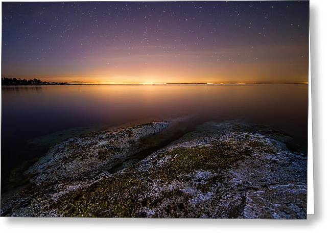Twinkle Greeting Cards - Lower Mainland Glow Greeting Card by James Wheeler