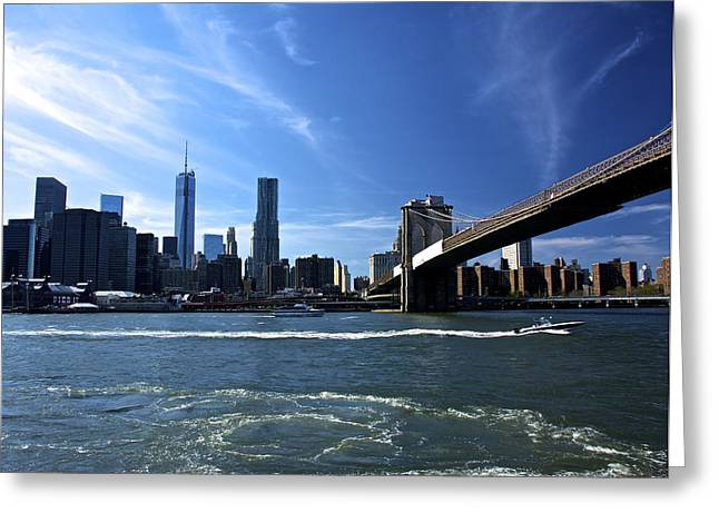 William Clinton Greeting Cards - Lower Manhattan Greeting Card by Kathi Isserman