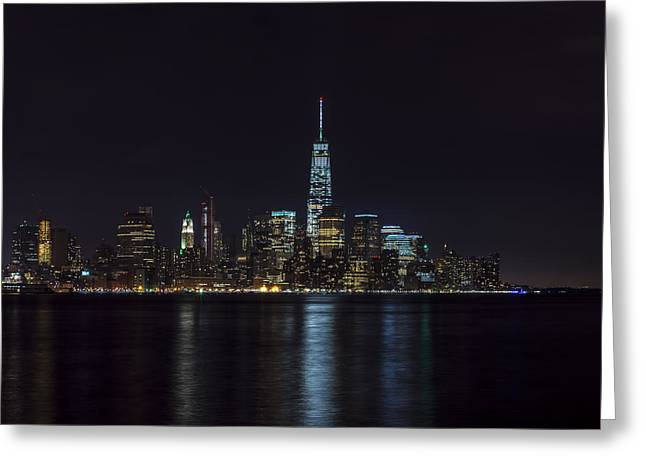 Road Travel Greeting Cards - Lower Manhattan Skyline Greeting Card by David Morefield