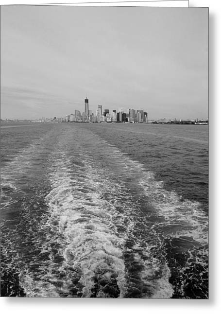 Wtc 11 Greeting Cards - LOWER NEW YORK in BLACK AND WHITE Greeting Card by Rob Hans