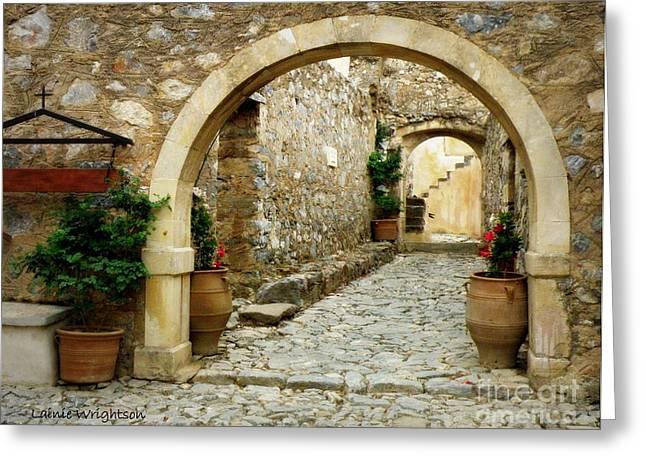 Lower Preveli Monastery Crete 1 Greeting Card by Lainie Wrightson
