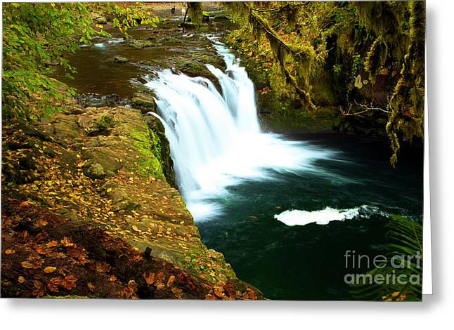Eagle Creek Greeting Cards - Lower Punchbowl Greeting Card by Adam Jewell