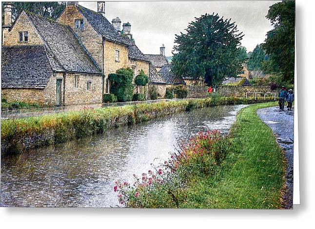 Overcast Day Greeting Cards - Lower Slaughter Greeting Card by William Beuther