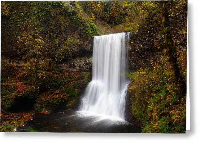 State Parks In Oregon Greeting Cards - Lower South falls Greeting Card by Engin Tokaj