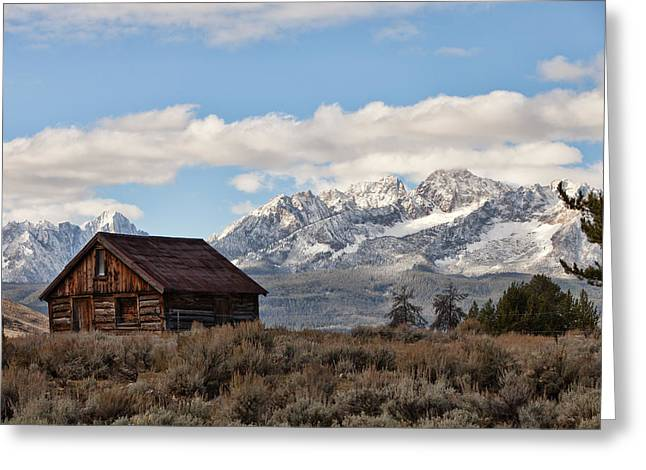 Snow-covered Landscape Greeting Cards - Lower Stanley Barn Greeting Card by Debbie Hamilton