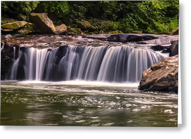 Lower Swallow Falls Center Section Greeting Card by Chris Flees