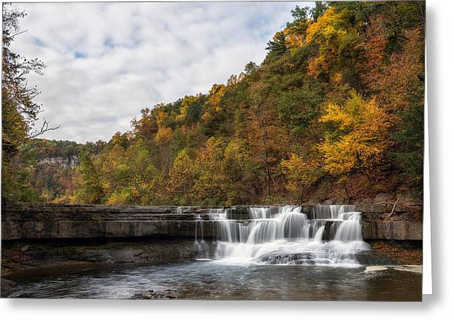 Taughannock Falls State Park Greeting Cards - Lower Taughannock Greeting Card by Mark Papke