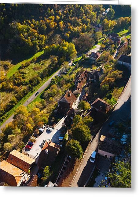 Midi Greeting Cards - Lower Town Overview From The Ramparts Greeting Card by Panoramic Images