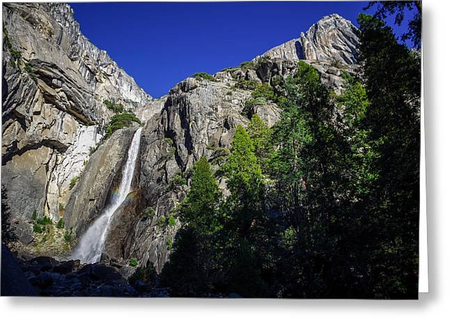 Mariposa County Greeting Cards - Lower Yosemite Falls Greeting Card by Scott McGuire