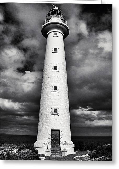 Points Pyrography Greeting Cards - Lowly Point Lighthouse Greeting Card by Ambro Fine Art