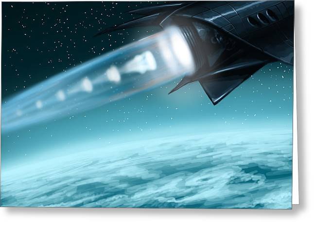 Spacecraft Greeting Cards - Lox Greeting Card by Mark Zelmer