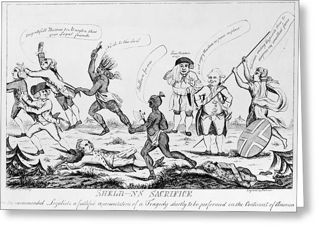 Shelburne Greeting Cards - Loyalists: Cartoon, 1783 Greeting Card by Granger
