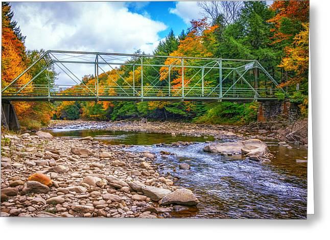 Mountain Road Greeting Cards - Loyalsock Creek Pennsylvania paint Greeting Card by Steve Harrington