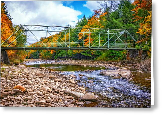 Autumn Prints Greeting Cards - Loyalsock Creek Pennsylvania paint Greeting Card by Steve Harrington