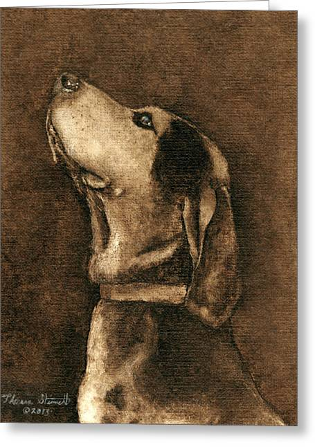 Collar Greeting Cards - Loyalty Greeting Card by Theresa Stinnett